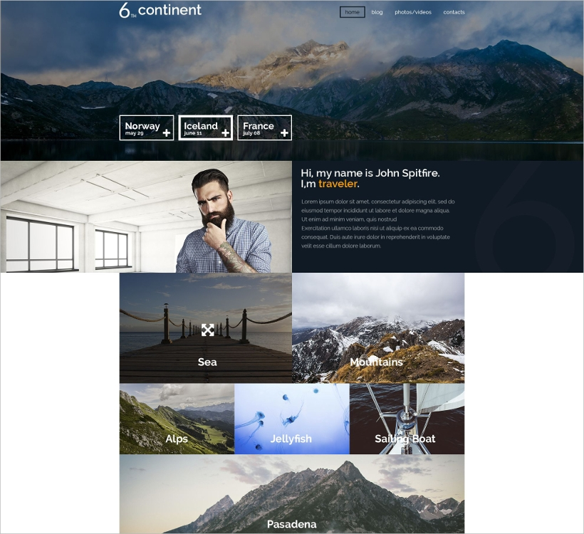 travel tourist agencies wordpress theme