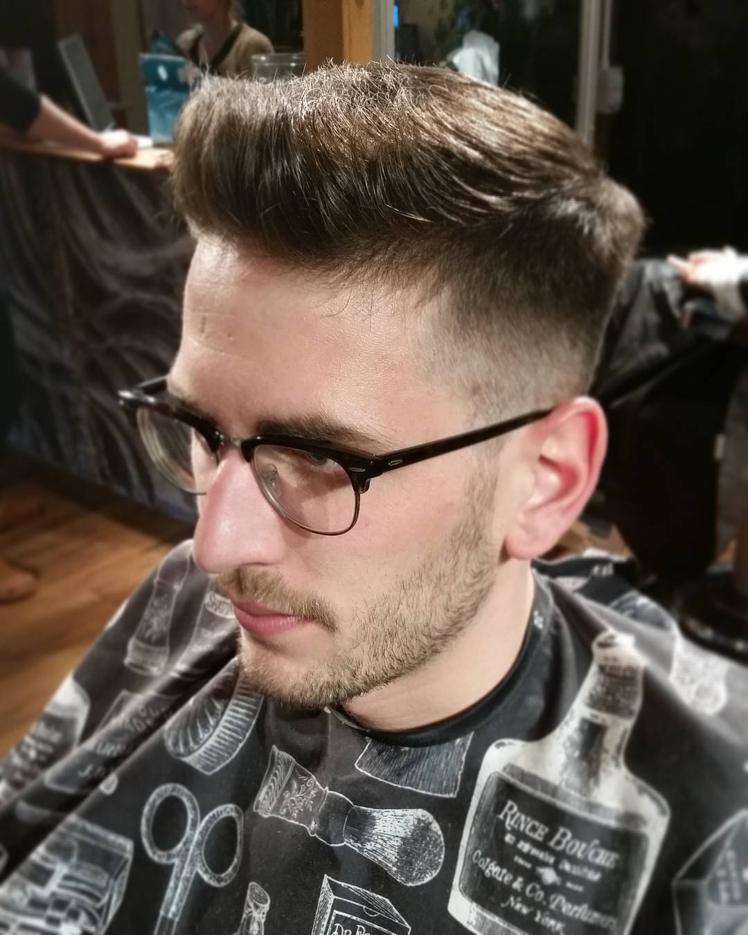 Classic Taper Haircut With Front Raised