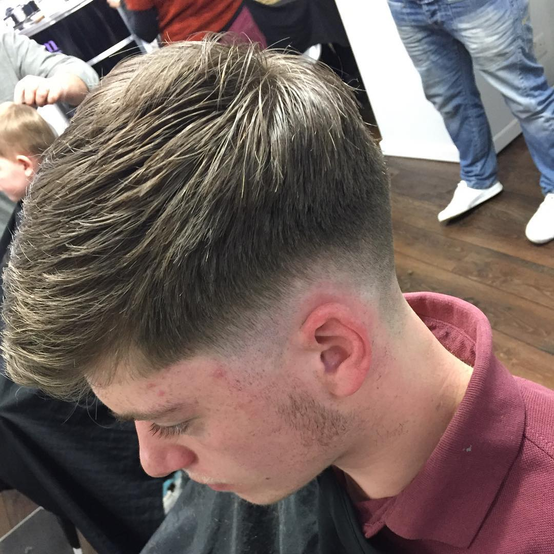 Textured Skin Taper Men Haircut Style