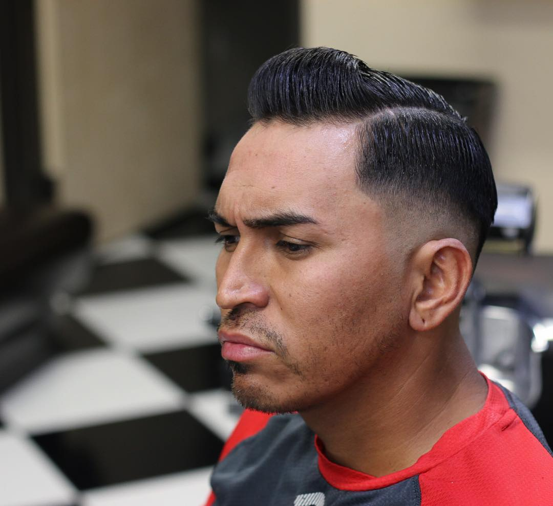 side shaved high top hairstyle design
