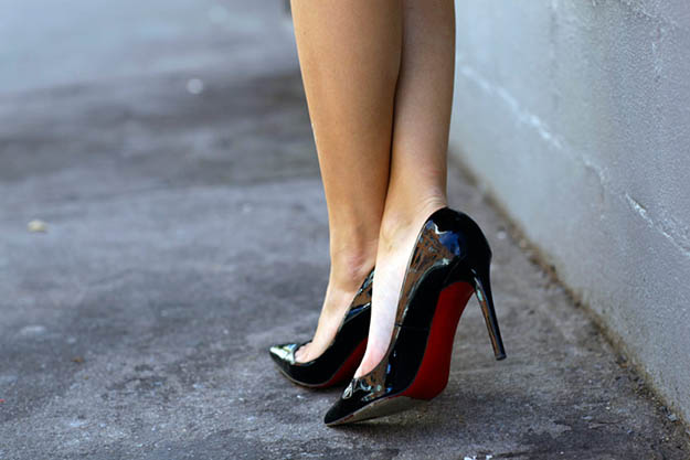 carefull with ankle walking with heels