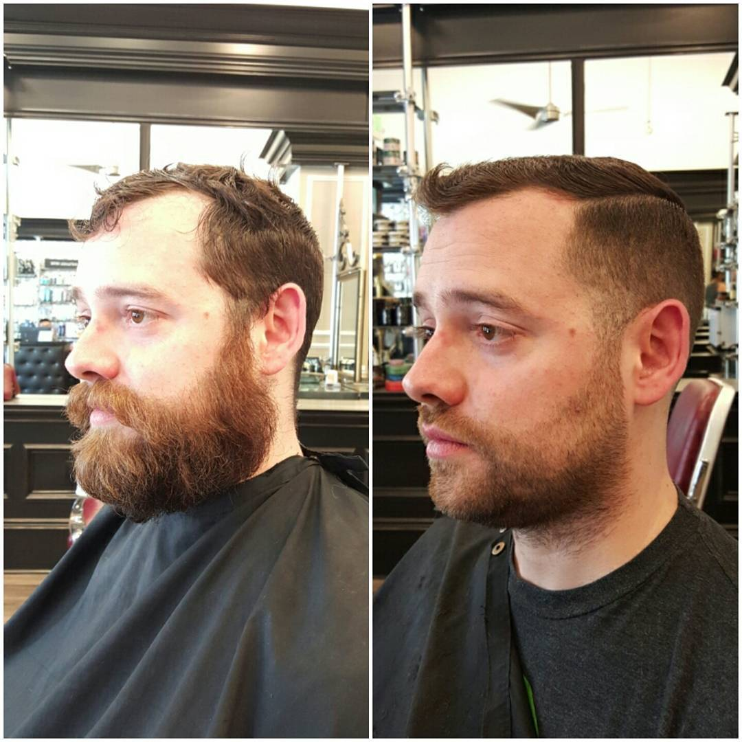 vintage style side fade hair