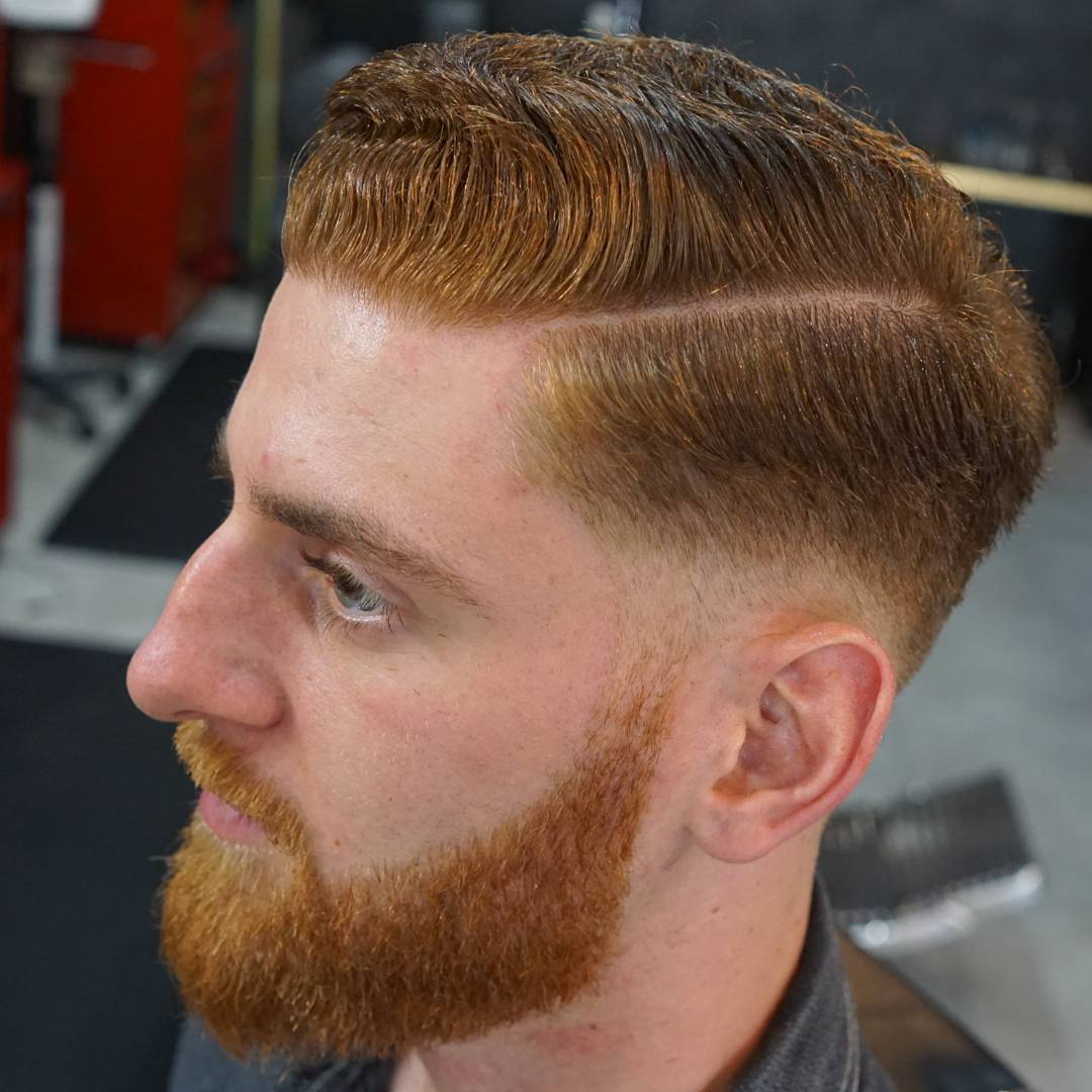 Brown Colored Low Taper Hairstyle Idea