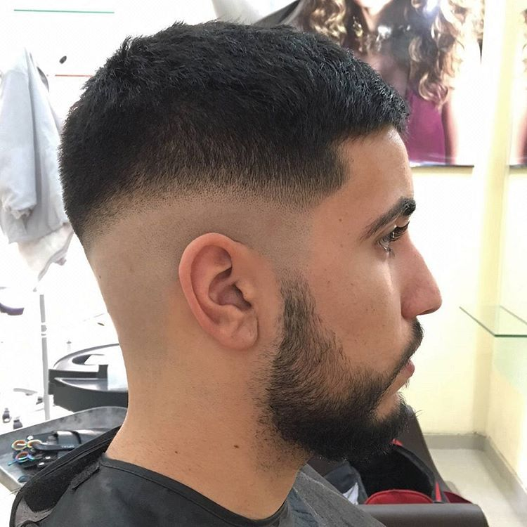 Black Side Taper Fade Hairstyle Idea