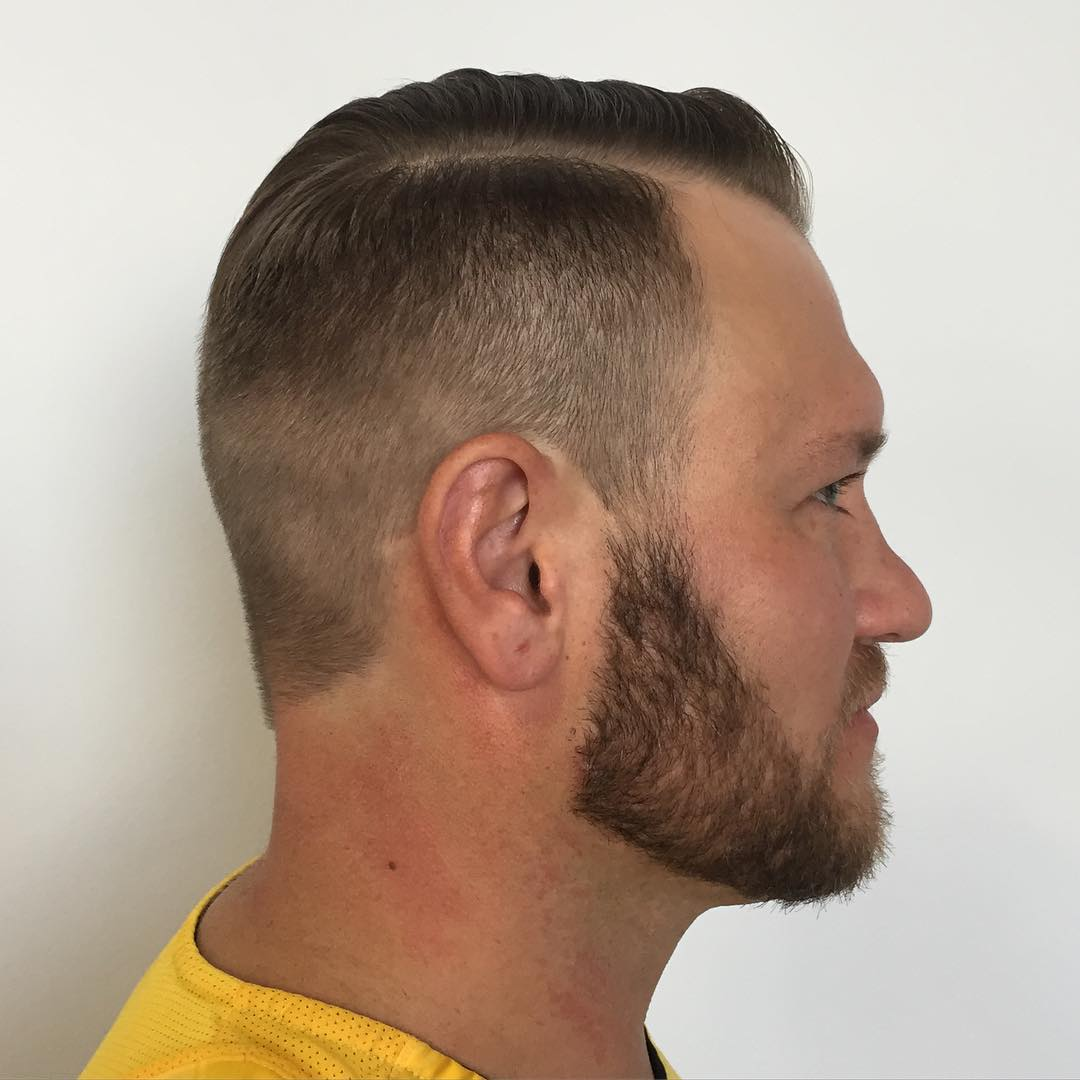 Side Parted Short Fade Hairstyle