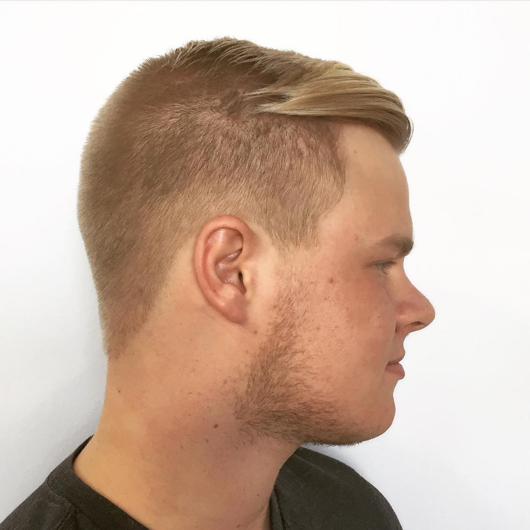 Textured Hair With Short Side Fade