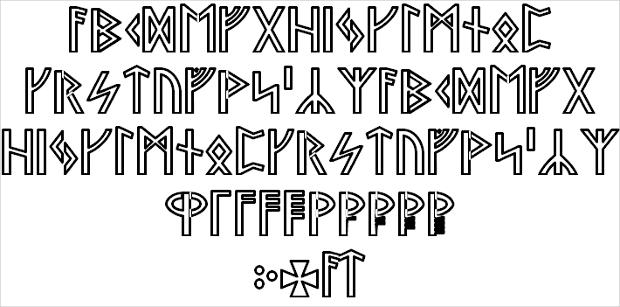 Serif Viking Style Font