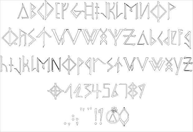 Free Alphabet Viking Font