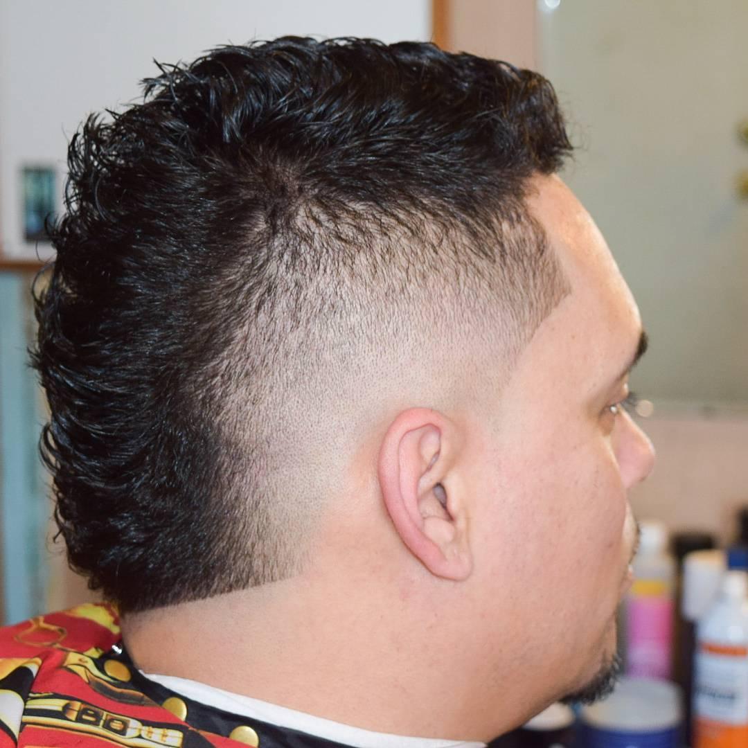 Pretty Faded Fohawk Haircut