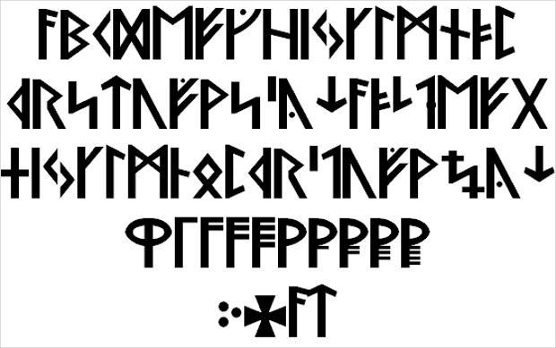 Sans Serif Viking Font