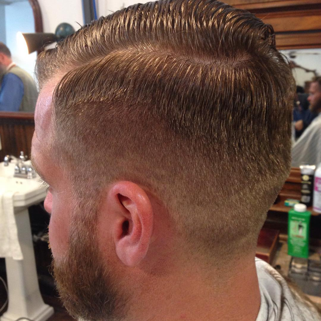 Tapered Gentlemans Cut For Short Hair.