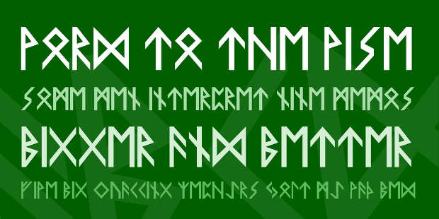 viking display font1