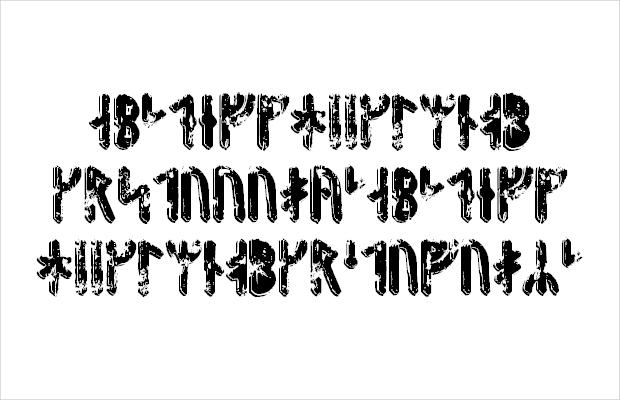 Grunge Style Viking Font