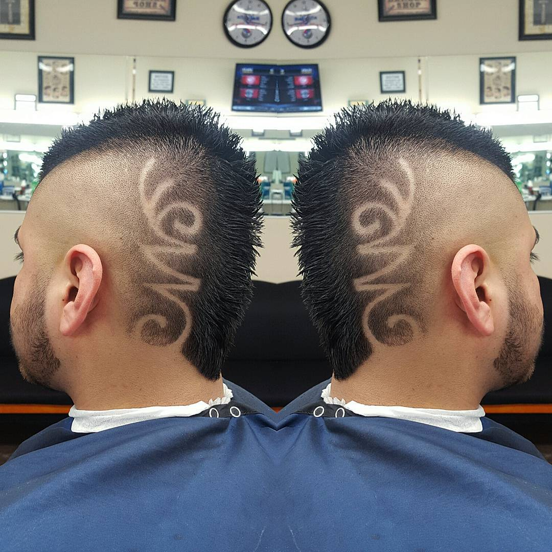 Fantastic Fohawk Side Designed Haircut