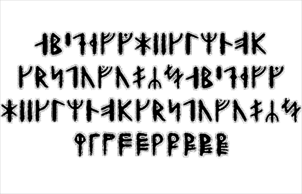 Viking Style Outlined Font