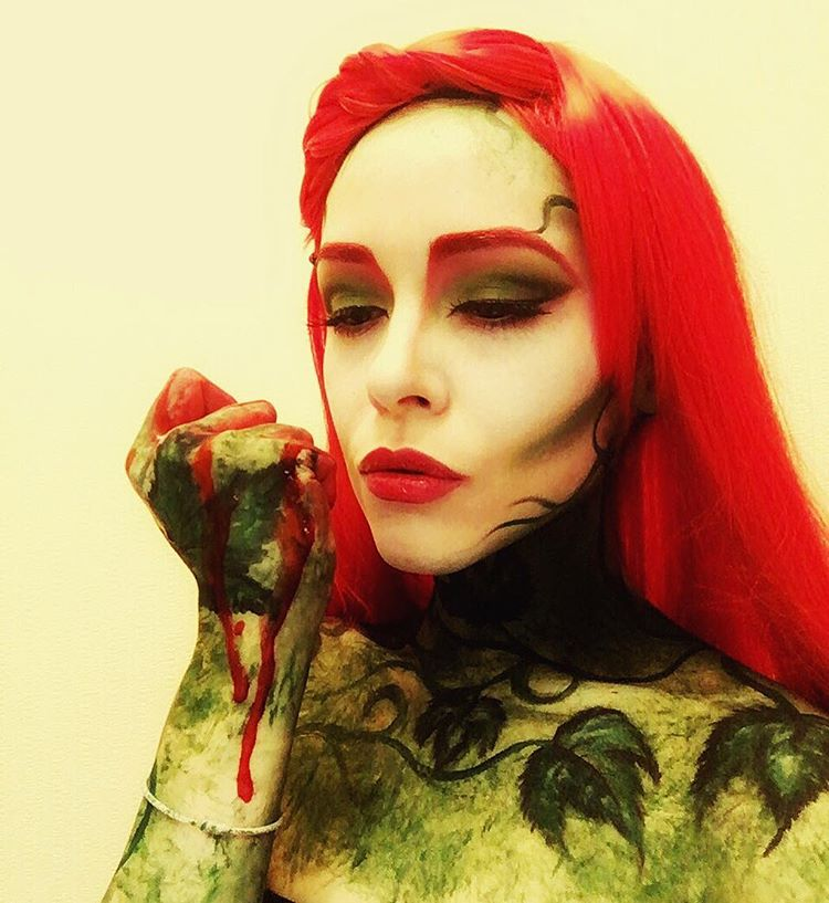 Adult Poision Ivy Makeup Design