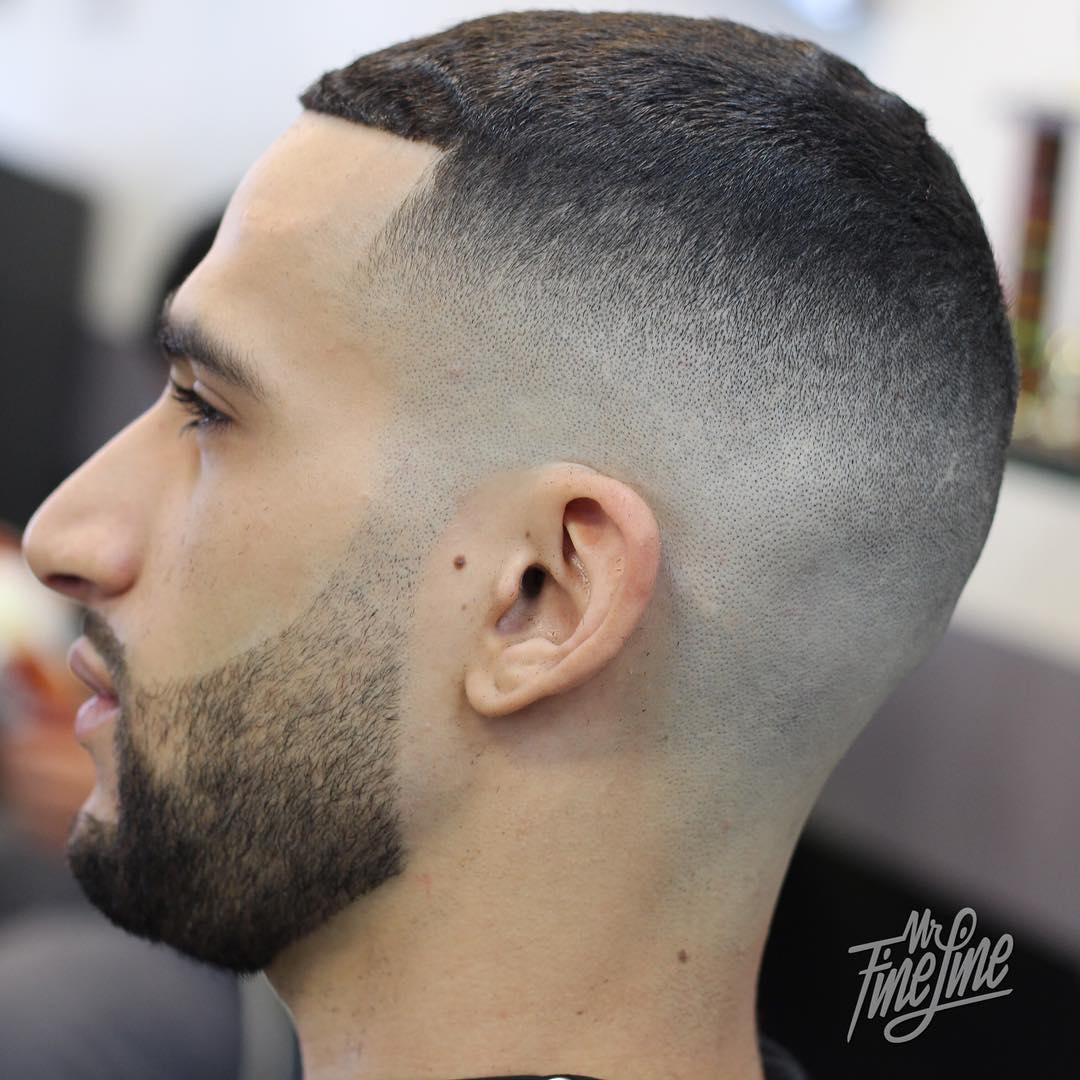 Partial Ceaser Taper Fade Haircut Design