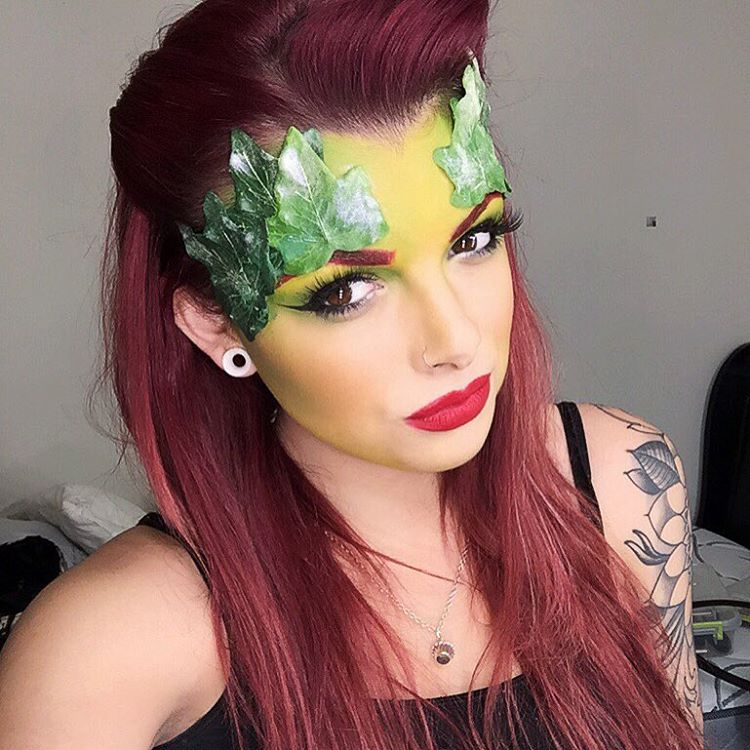 Diy Poison Ivy Makeup Design