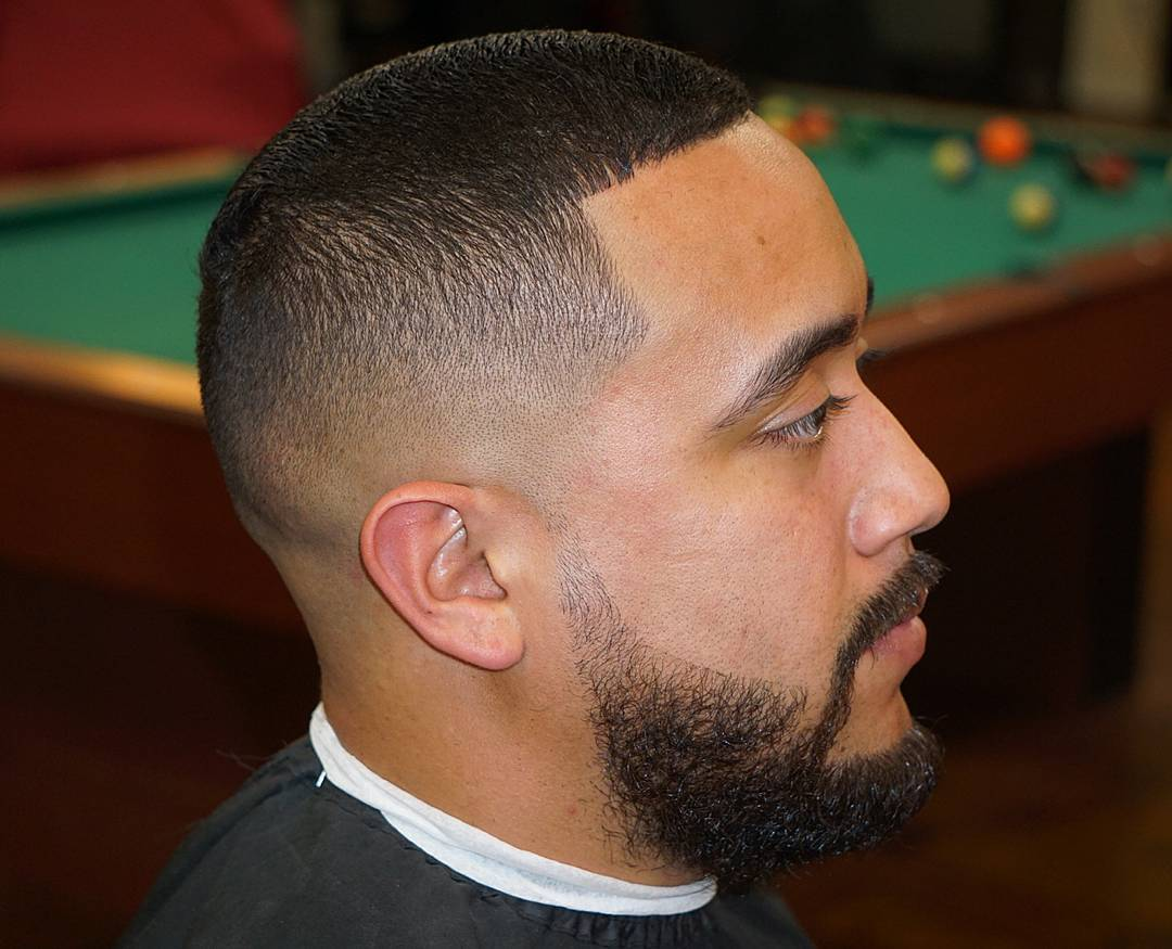 Mid Fade and Line Up Haircut