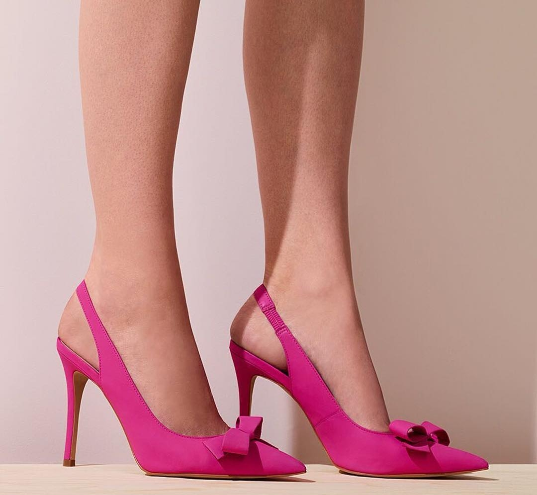 girly pink high heels