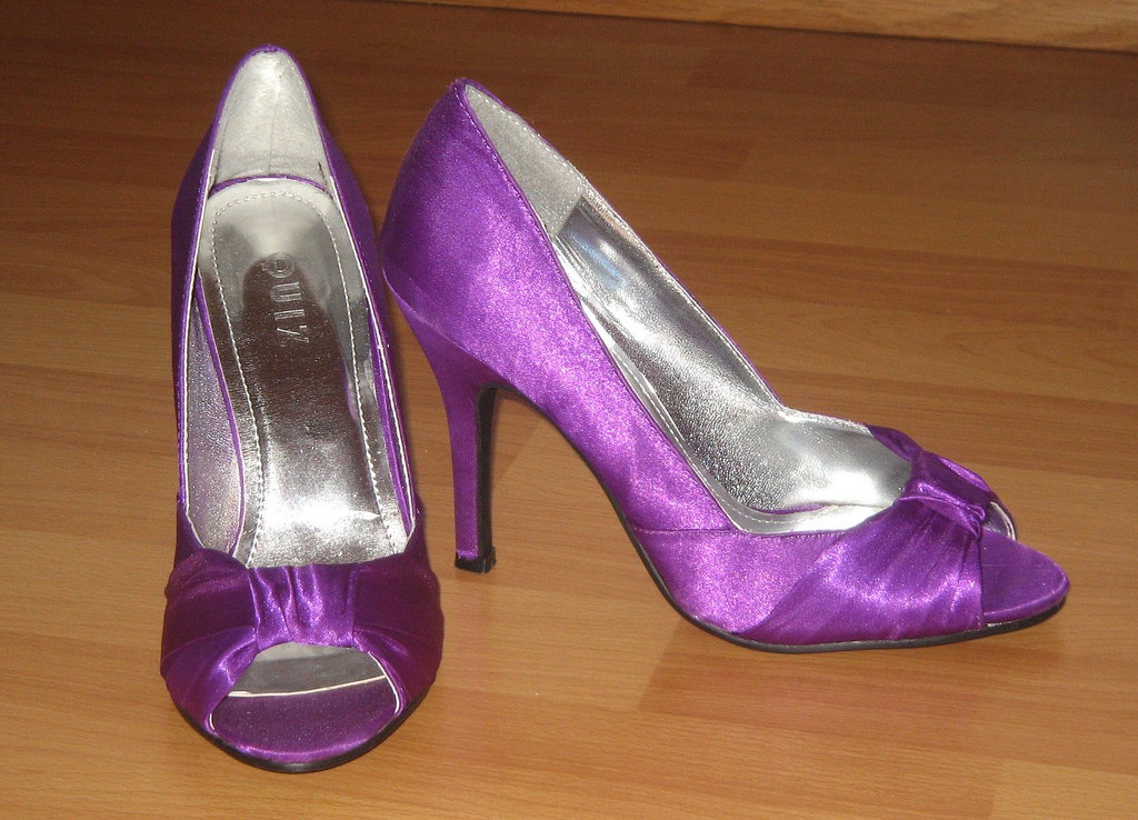 casual puple high heels