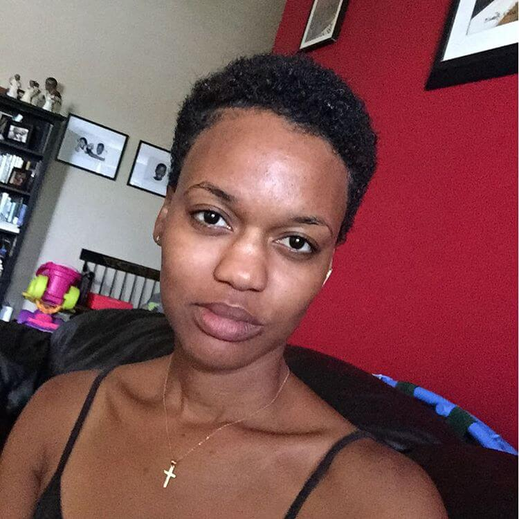 Natural Tapered Black Women Haircut
