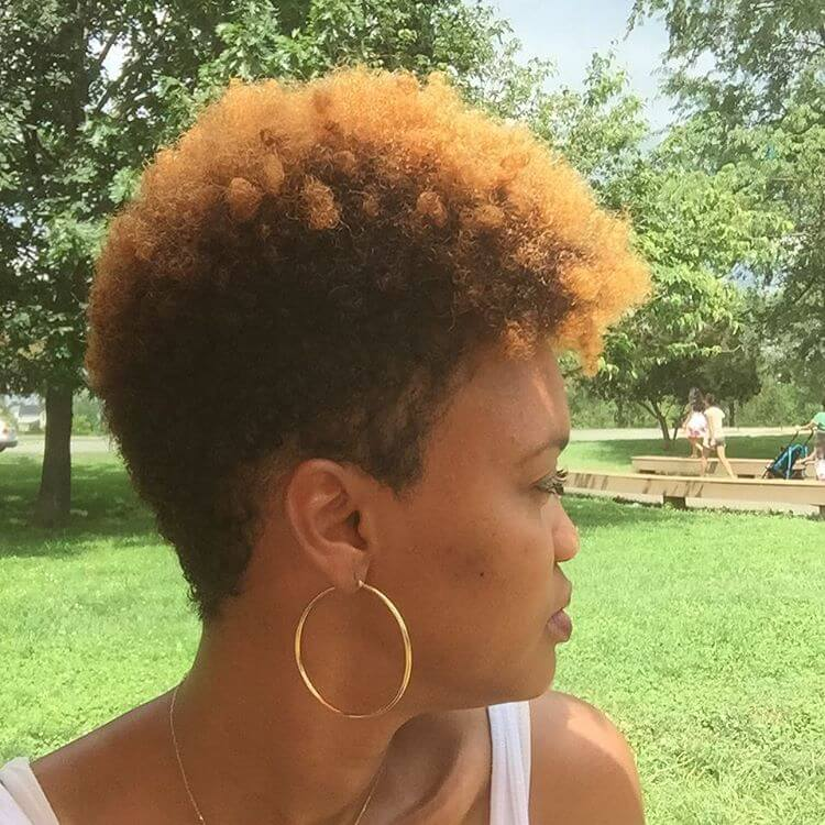 Tapered Curly Hairstyle for Woman
