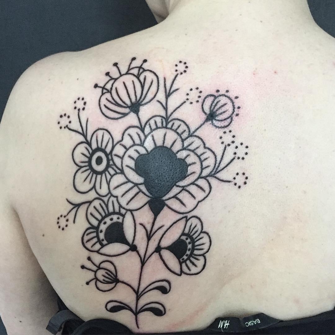 Beautiful Black Tattoo Design