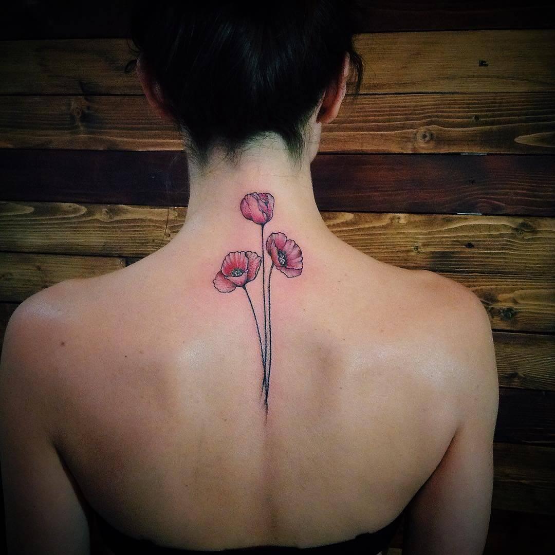 Small Poppy Tattoo (1)
