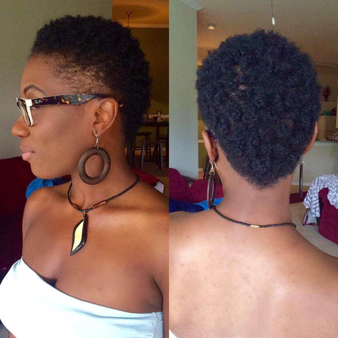 Classy Short Curls Fade Hairstyle Design
