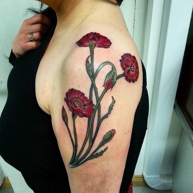 Red Poppies Tattoo (1)
