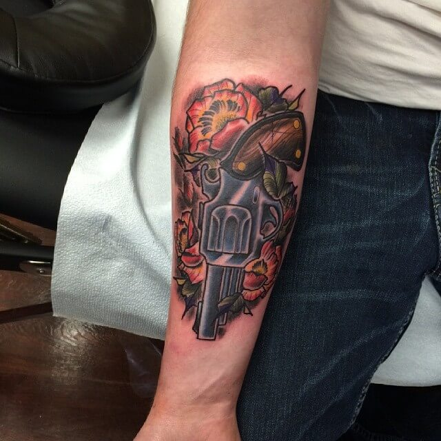 Gun with Poppy Tattoo (1)
