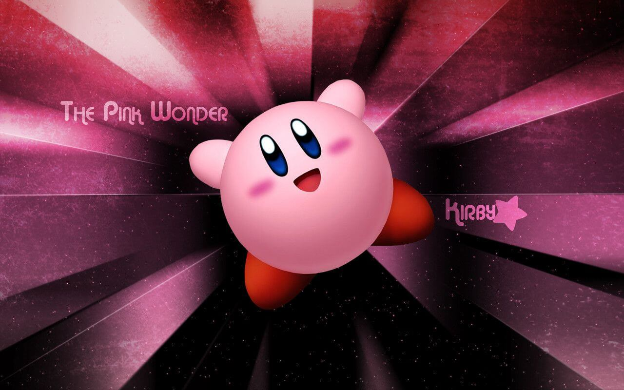 Pink Background Kirby Wallpaper