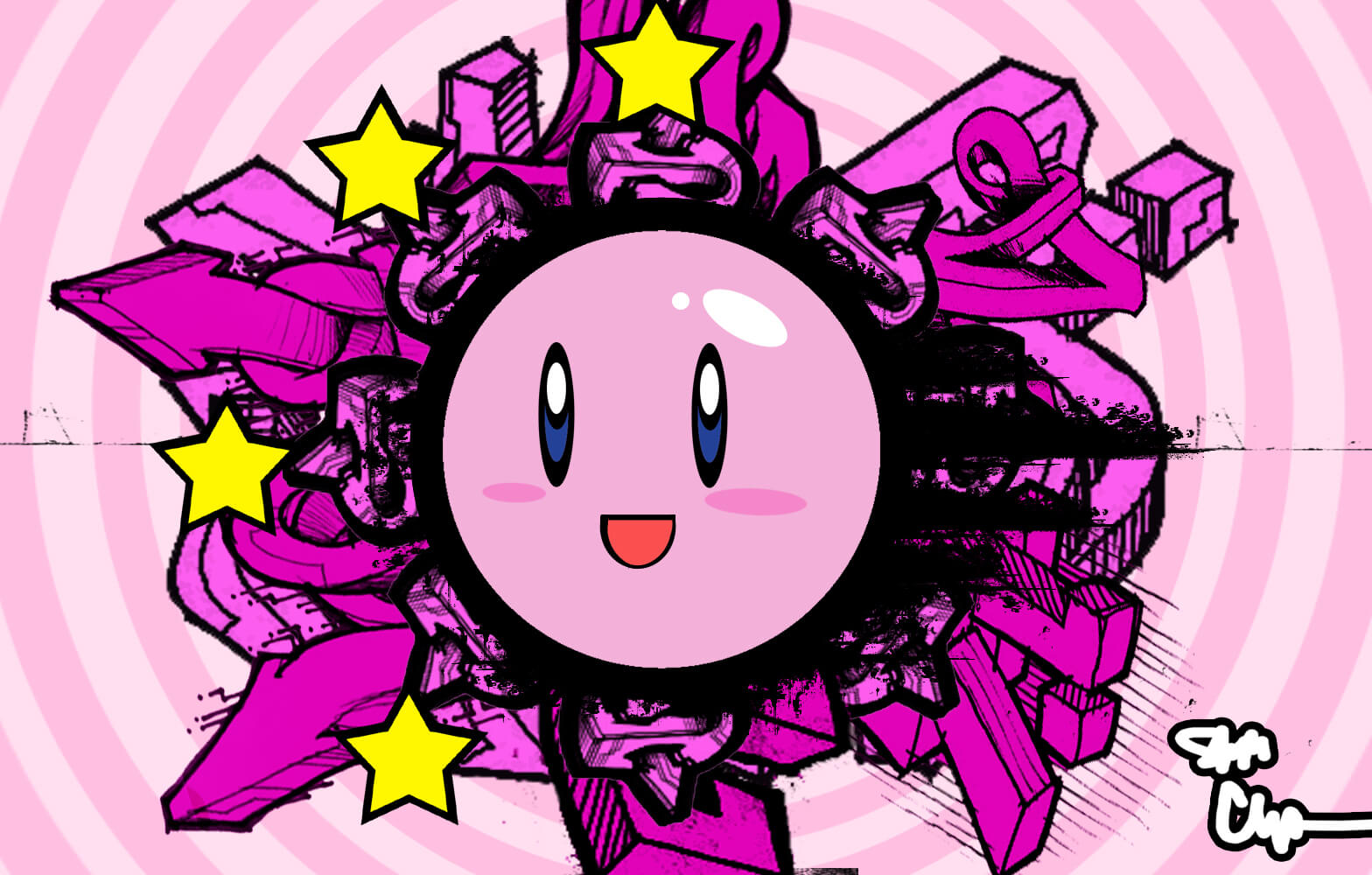Stunned Kirby HD Wallpaper