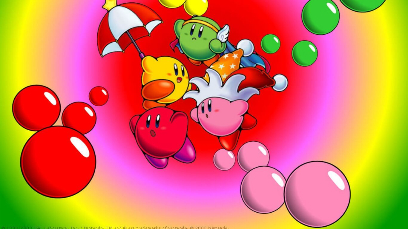 Four Player Kirby Wallpaper
