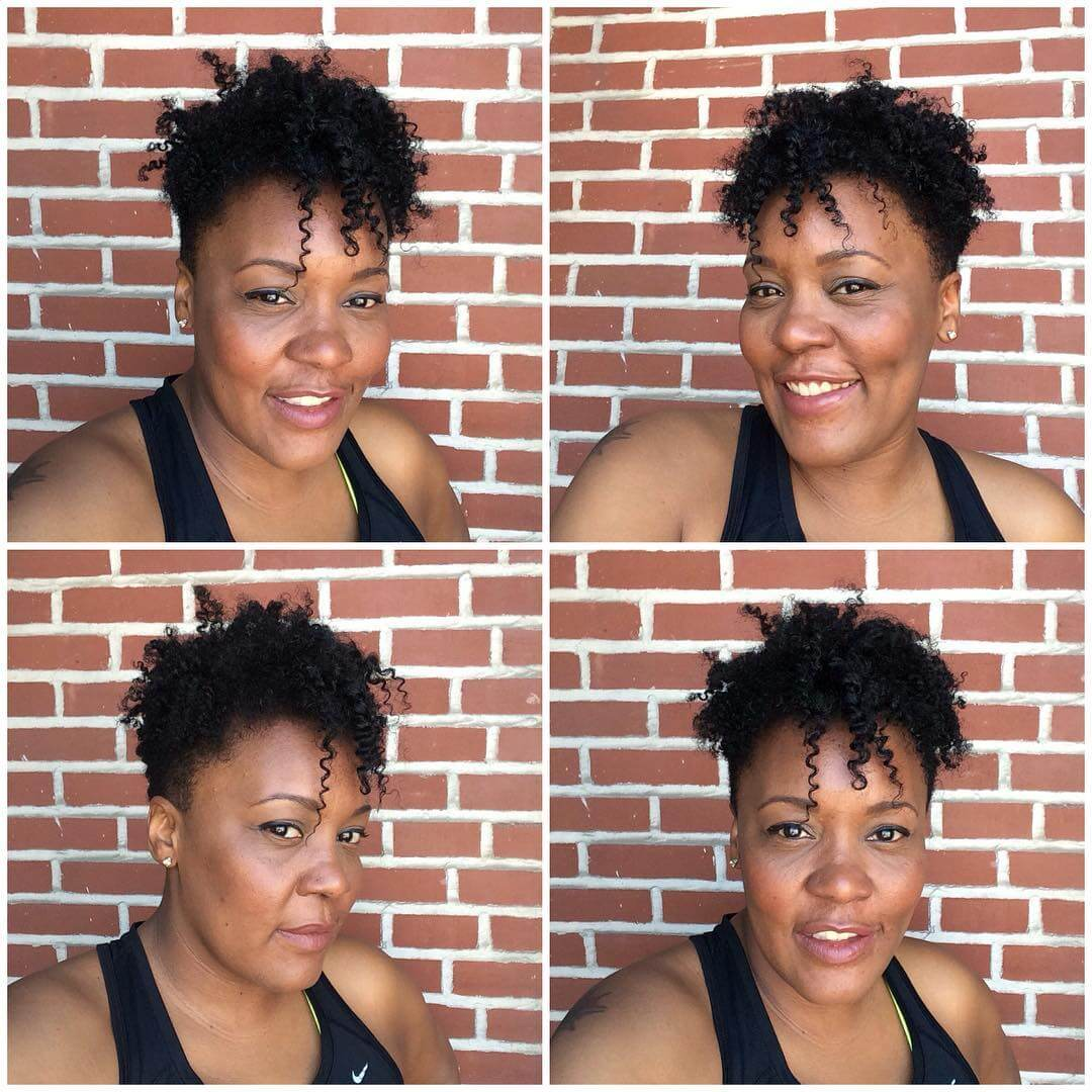 Long Curls Top Hairstyle With Tapered Fade