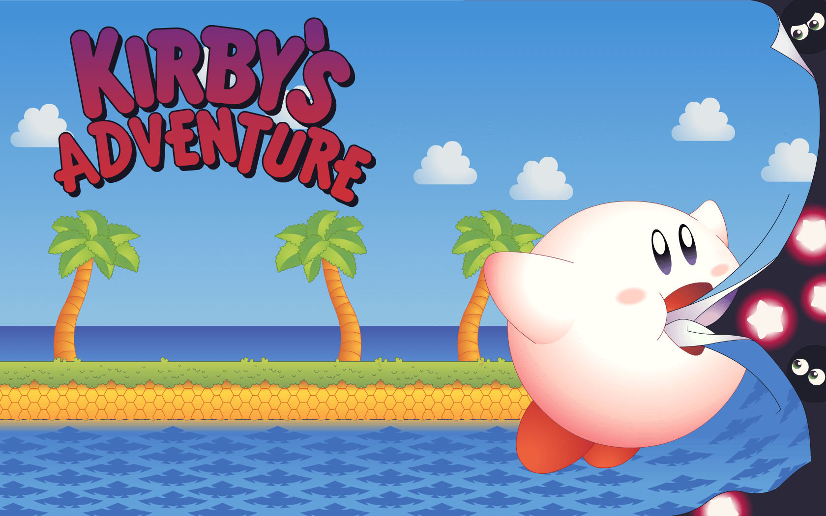-Fantastic Kirby Adventure Wallpaper