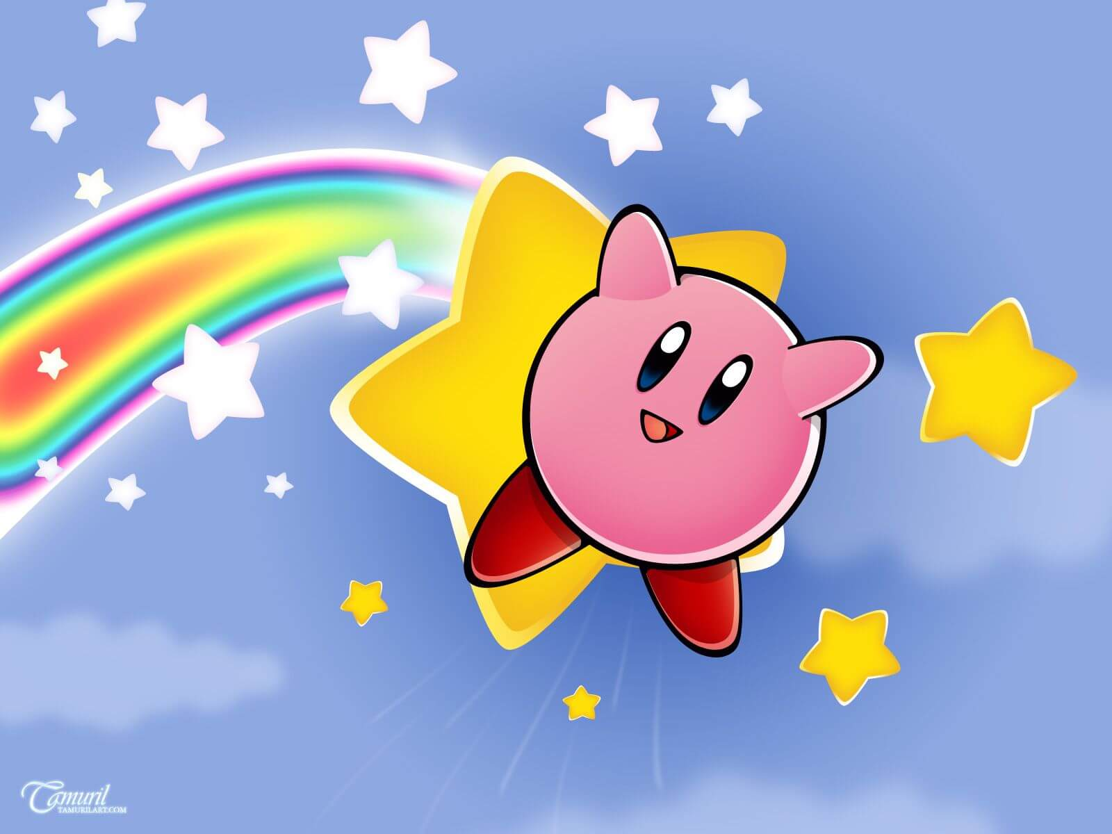 Rainbow Kirby Wallpaper
