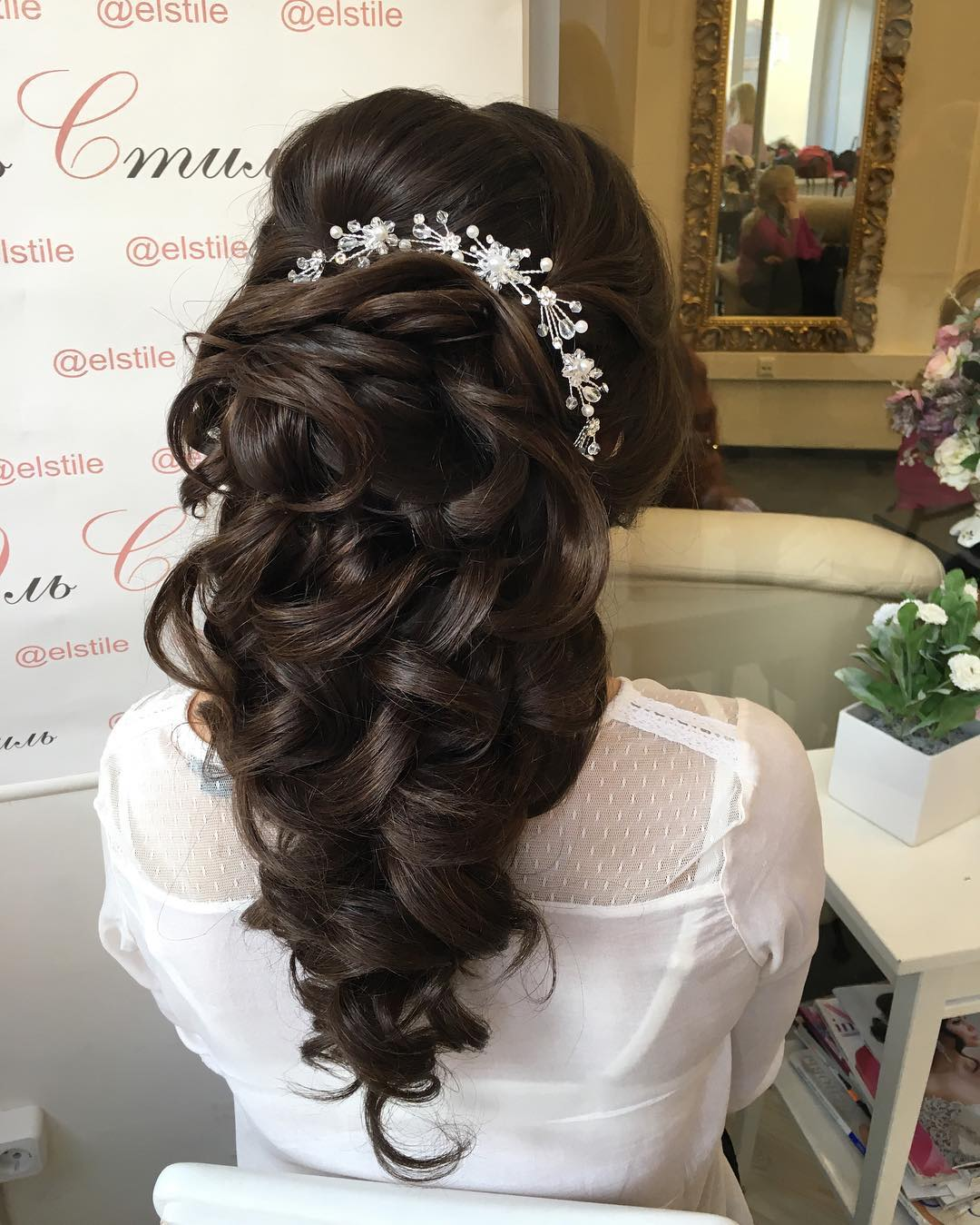creative designed wedding hairstyle design