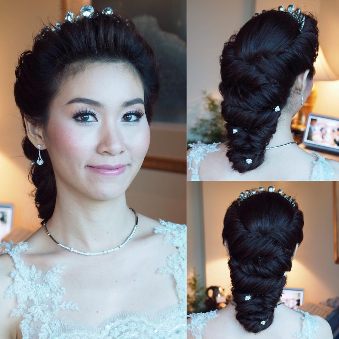 trendy wedding hairstyle design