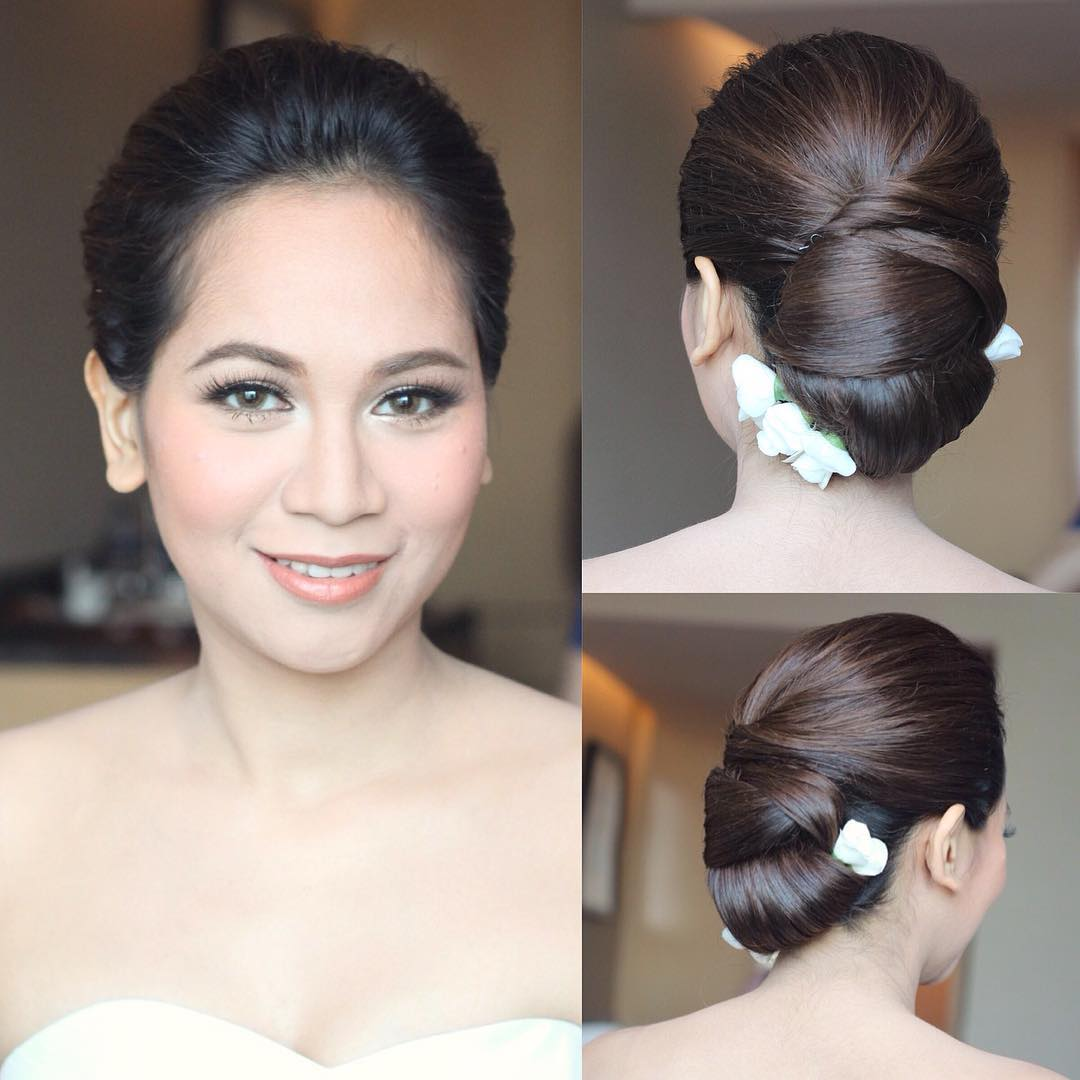 simple and trendy bridal hair