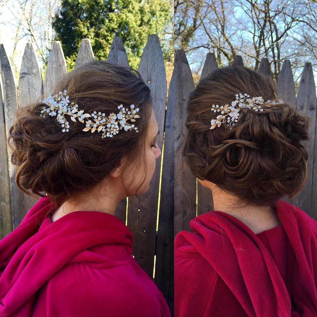 awesome bridal hairstyle looks so gorgeous