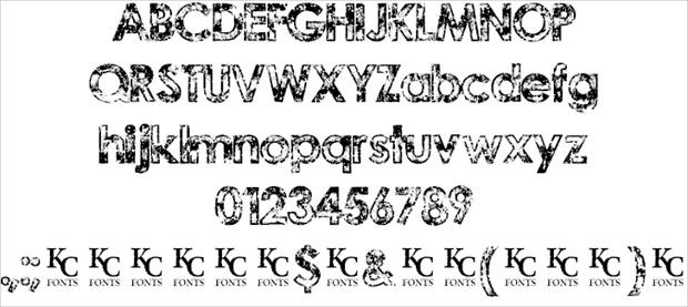 grunge urban fonts