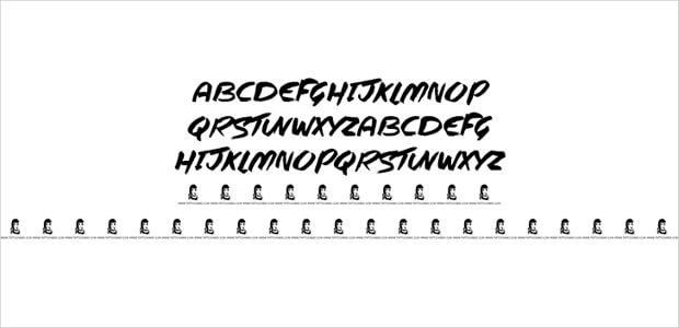 urban tattoo font