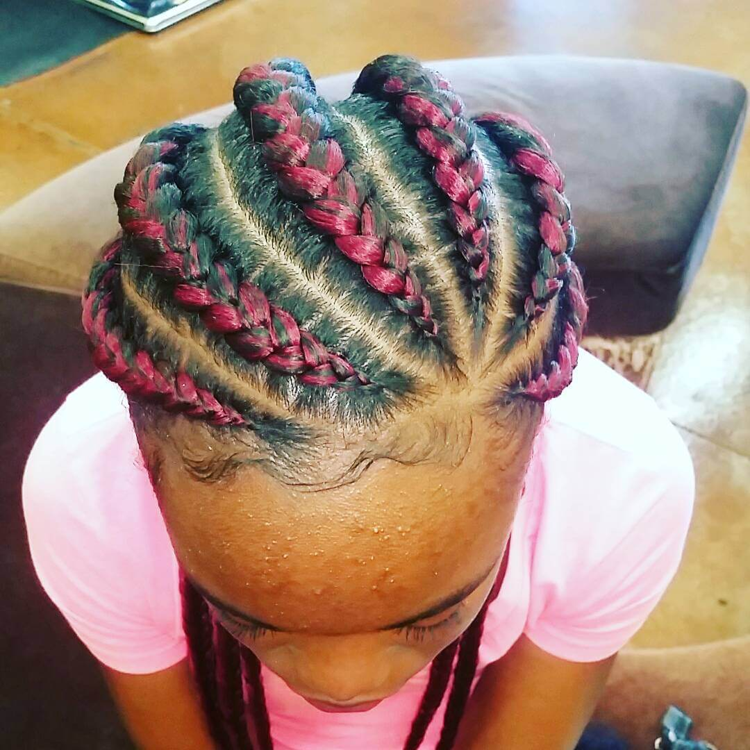 Pink Shade Natural Braids (1)