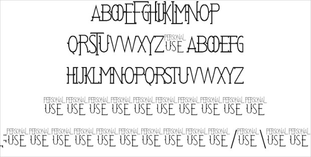 stylish thin urban font
