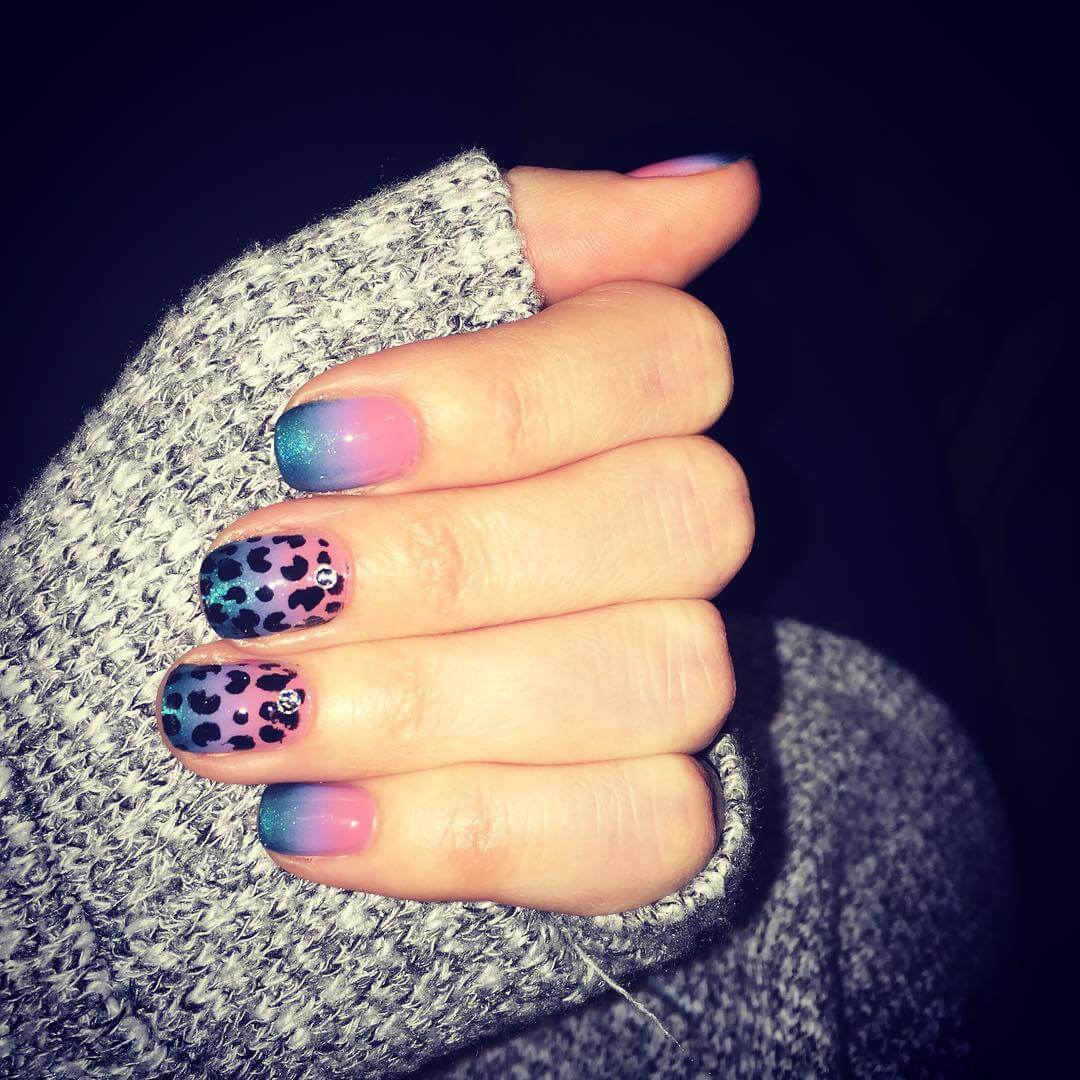 Colorful Classy Nail Art Design