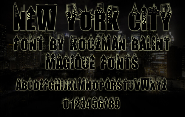 Urban City Font for Posters