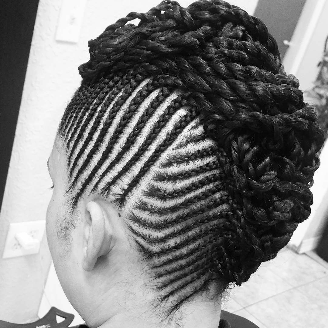 black and white braided hair 1