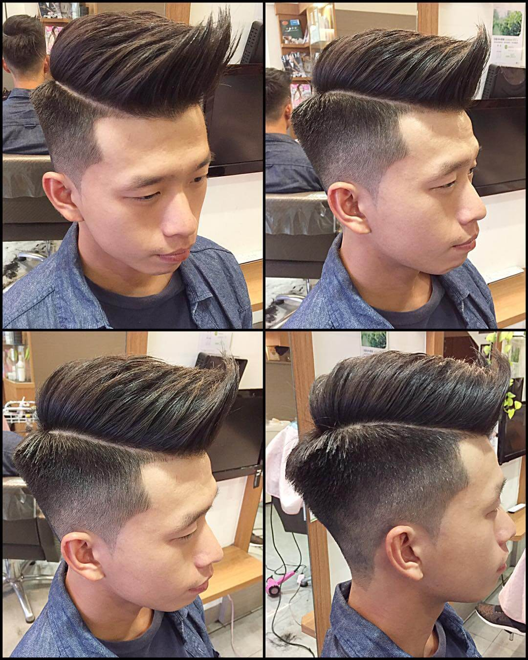 Undercut Slicked Haircut For Boys